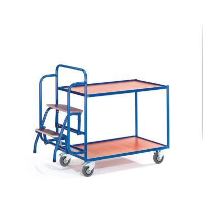 Etagenwagen mit Trittstufen, 2 Etagen