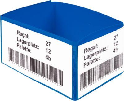 Etikethouder voor palletvoet, blauw, 10 stuks