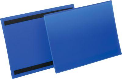 Etiketten- und Kennzeichnungstaschen B 297 x 210 mm (A4 quer), 50 Stück, blau