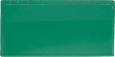 Etikettentasche Label PLUS, selbstklebend, 50x110, grün