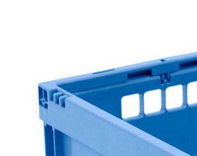 EURO-afmetingen vouwbox 4322, zonder deksel, voor magazijn- en multitransport, inhoud 20,3 l, blauw