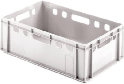 Euro Box Fleischkasten, lebensmittelecht, Inhalt 35,3 L, geschlossene Version, weiß