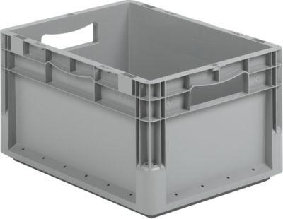 Euro Box Leichtbehälter ELB 4220, aus PP, Inhalt 20,4 L, ohne Deckel, grau
