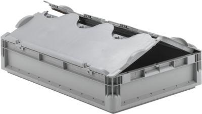Euro Box Leichtbehälter ELB 6120, aus PP, Inhalt 23,3 L, mit Deckel, grau