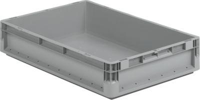 Euro Box Leichtbehälter ELB 6120, aus PP, Inhalt 23,3 L, ohne Deckel, grau