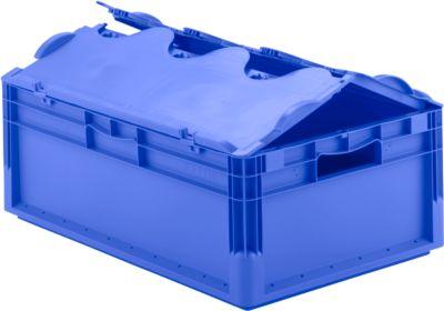 Euro Box Leichtbehälter ELB 6220, aus PP, Inhalt 43,7 L, mit Deckel, blau