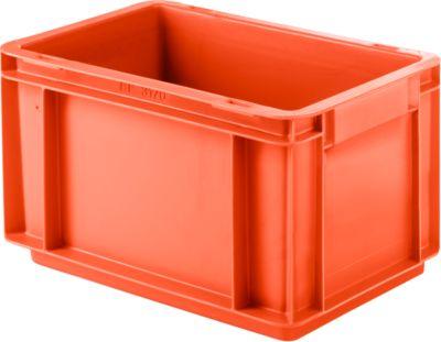 Euro Box Serie EF 3170, aus PP, Inhalt 6,5 L, geschlossene Wände, Unterfassgriff, rot