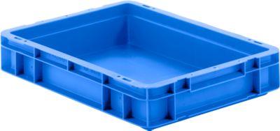 Euro Box Serie EF 4070, aus PP, Inhalt 6,9 L, geschlossene Wände, Unterfassgriff, blau