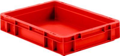 Euro box serie EF 4070, van PP, inhoud 6,9 l, gesloten wanden, greep, rood