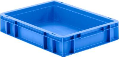 Euro Box Serie EF 4080, aus PP, Inhalt 7,4 L, geschlossene Wände, Unterfassgriff, blau