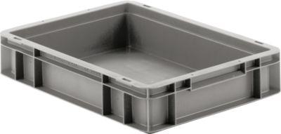 Euro box serie EF 4080, van PP, inhoud 7,4 l, gesloten wanden, greep, grijs