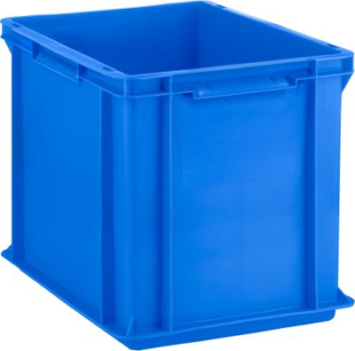 Euro Box Serie EF 4320, aus PP, Inhalt 29,5 L, geschlossene Wände, Unterfassgriff, blau