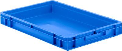 Euro Box Serie EF 6070, aus PP, Inhalt 14,3 L, geschlossene Wände, Unterfassgriff,  blau