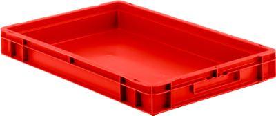 Euro box serie EF 6070, van PP, inhoud 14,3 l, gesloten wanden, greep, rood