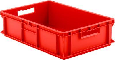 Euro Box Serie EF 6150, aus PP, Inhalt 29,4 L, geschlossene Wände, rot, Durchfassgriff