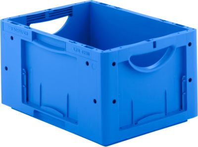 Euro Box Serie LTB 4220, aus PP, Inhalt 19,8 L, ohne Deckel, blau