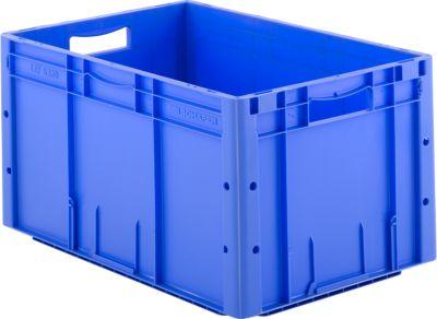 Euro Box Serie LTF 6320, aus PP, Inhalt 62,7 L, Durchfassgriff, blau