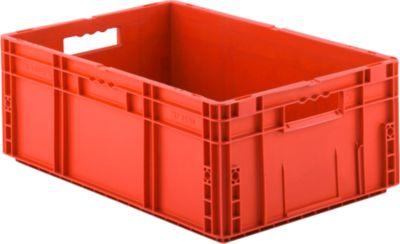 Euro Box Serie MF 6220, aus PP, Inhalt 41,6 L, Durchfassgriff, rot