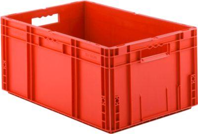 Euro Box Serie MF 6270, aus PP, Inhalt 52 L, Durchfassgriff, rot