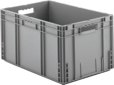 Euro Box Serie MF 6320, aus PP, Inhalt 62,3 L, Durchfassgriff, grau