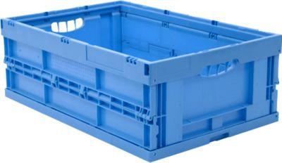 EURO-Maß Faltbox 6422 NG, ohne Deckel, für Lager- und Mehrwegtransport, 41,4 Liter, blau