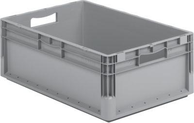 Eurobox ELB 6120, Durchfassgriff, ohne Deckel, Polypropylen, L 600 x B 400 x H 120 mm, 23,3 l, grau
