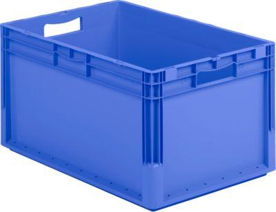 Eurobox Lichtgewicht bak ELB 6320, uit PP, inhoud 64 L, zonder deksel, blauw, zonder deksel