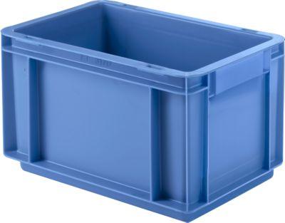 Eurobox-serie EF 3170, uit PP, inhoud 6,5 L, gesloten wanden, bodemgreep, blauw