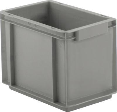 Eurobox-serie EF 3220, PP, inhoud 9 l, gesloten wanden, bodemgreep, 9 l, grijs