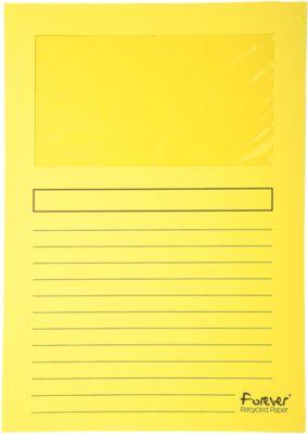 Exacompta Venstermappen Forever®, pak van 100 stuks, geel