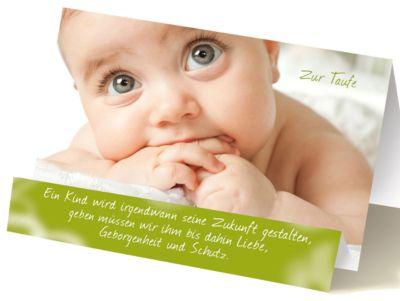 Extraknick-Taufkarte Baby, mit 3D-Effekt, mit Umschlag