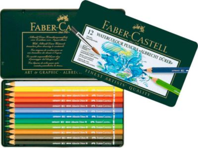 FABER-CASTELL Aquarellstift ALBRECHT DÜRER, sortiert, 12 Stück
