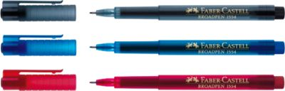 FABER-CASTELL Broadpen Document, 0,8 mm, zwart, 10 stuks
