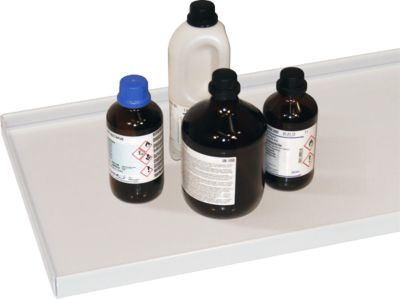 Fachboden für Gefahrstoffschrank Asecos V-LINE, Stahlblech, Traglast 50 kg, lichtgrau