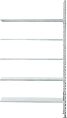 Fachbodenregal FBR 2200, Anbauregal, 1315 x 500 mm, 5 Böden