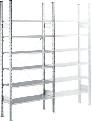 Fachbodenregal SSI Schäfer R3000, Grundregal, 7 beschicht. Böden, B 1055 x T 300 mm