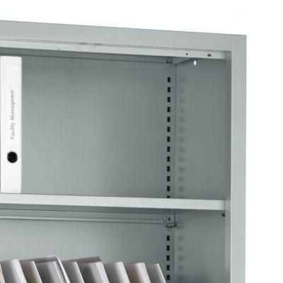 Fachböden MS iCONOMY, inklusive Halterung, B 800 mm, 2 Stück, weißaluminium