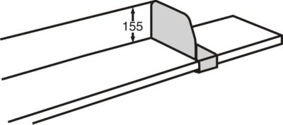 Fachteiler, verschiebbar, für Variabo Freiarmregal, T 400 mm