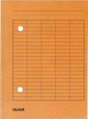 FALKEN Dokumentenmappe, DIN A4, Karton, orange