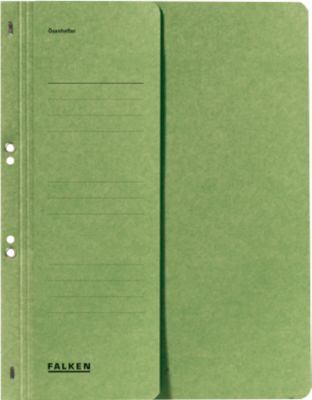 FALKEN Ösenhefter, für DIN-A4, halber Deckel, 1 Stück, grün
