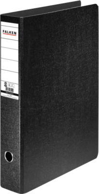 FALKEN Ordner, DIN A3, mit Rückenschild, Rückenbreite 80 mm, Hochformat,