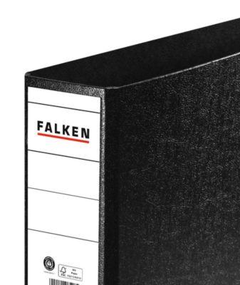 FALKEN Ordner, DIN A4 Querformat, Rückenbreite 80 mm, schwarz