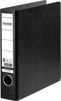 Falken Ordner, DIN A5 hoch, schwarz, Rückenbreite 50 mm