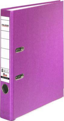 FALKEN Recycolor kartonnen ordner, A4, 50 mm, lila, 1 stuk