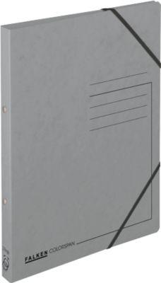 FALKEN Ringbuch, DIN A4, 2 Rund-Ring Mechanik, Rückenbreite 25 mm, grau