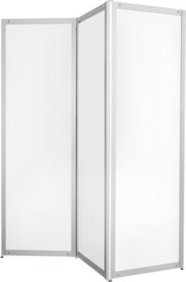Falt-Stellwand, Metall weiß, magnethaftend