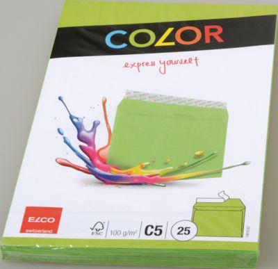 Farbige Kuverts, C5, grün, 25 Stück