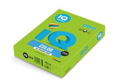 Farbiges Kopierpapier Mondi IQ Color Intensivfarbe, DIN A4, 120 g/m², maigrün, 1 Paket = 250 Blatt
