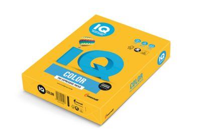 Farbiges Kopierpapier Mondi IQ Color Intensivfarbe, DIN A4, 160 g/m², sonnengelb, 1 Paket = 250 Blatt