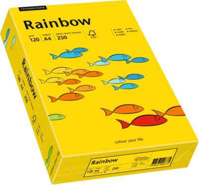 Farbiges Kopierpapier Mondi Rainbow, DIN A4, 120 g/m², intensivgelb, 1 Paket = 250 Blatt